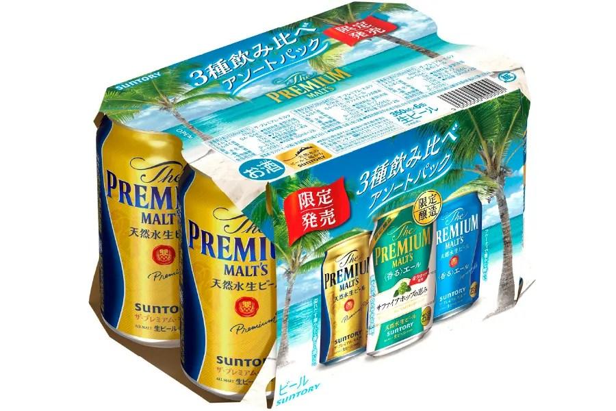 サントリービール「ザ・プレミアム・モルツ 3種飲み比べアソートパック」