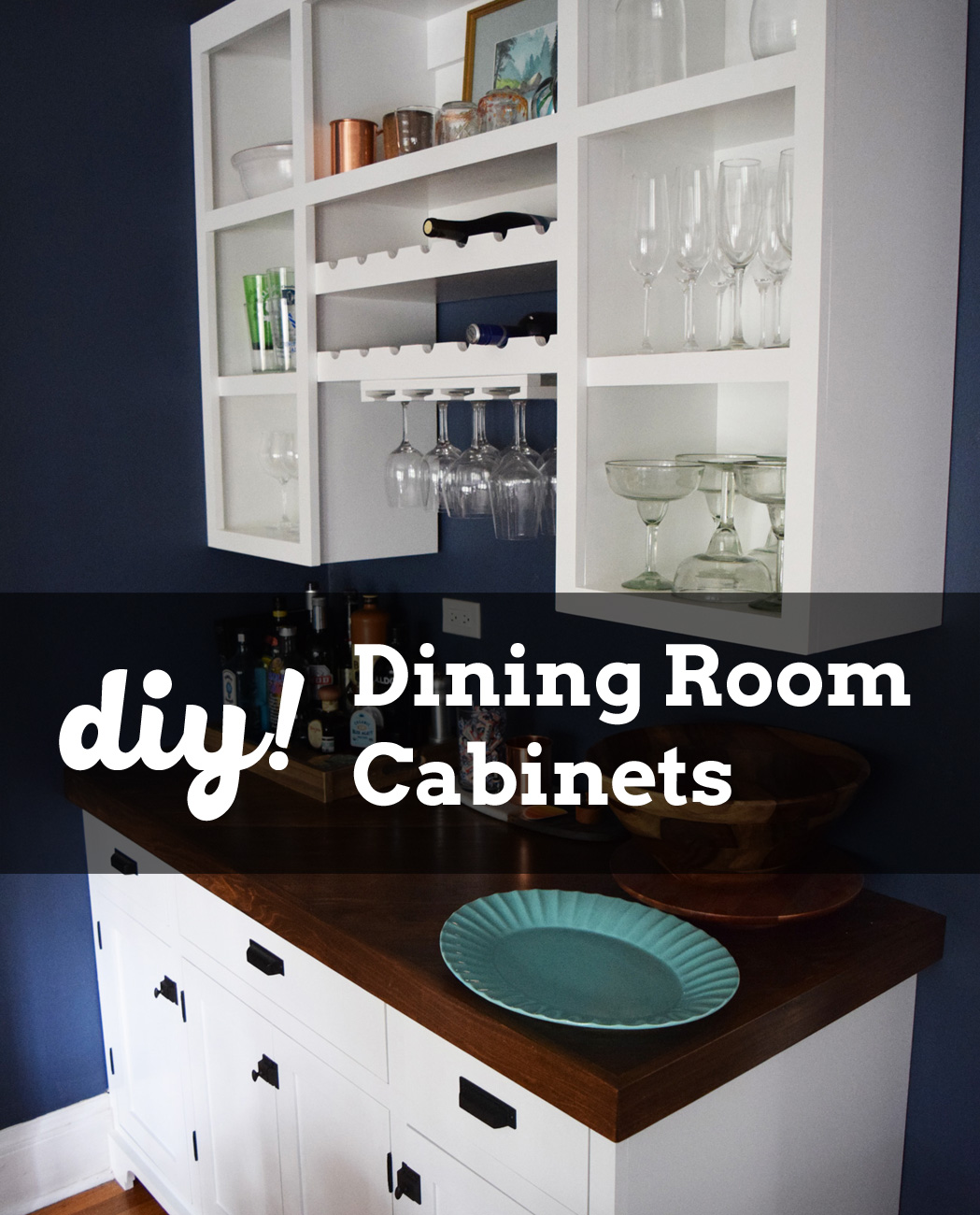 DIY Built In Dining Room Cabinets