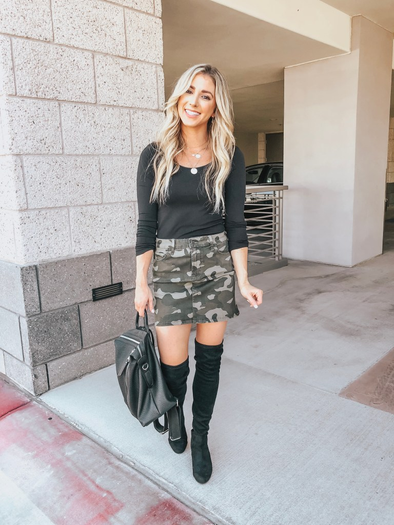 9ab76927fe318 Camo Skirt Outfit - Always Meliss