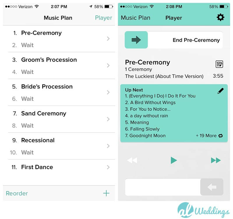 Wedding playlist app invitationjpg how to make the best wedding playlist with list junglespirit Image collections