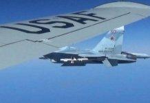 بالصور.. اعتراض مقاتلة روسية لطائرة استطلاع أمريكية فوق البحر الأسود