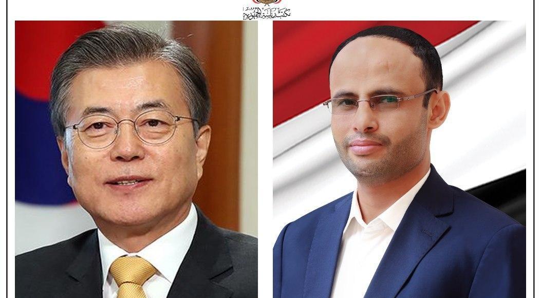 الرئيس مهدي المشاط يهنئ رئيس كوريا الجنوبية بعيد التحرير