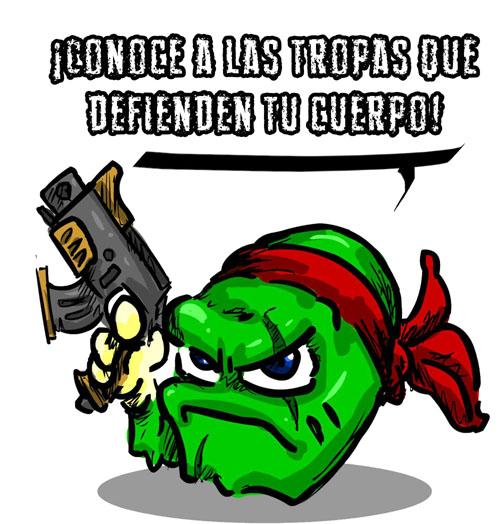 ¡Conoce a las tropas que defienden tu cuerpo!
