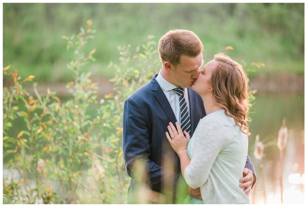Red Deer engagement photo session
