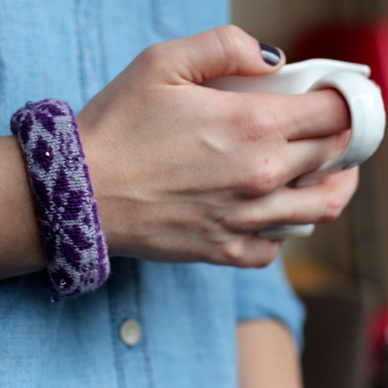 cozy sock bracelet
