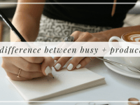 The difference between busy + productive, Alyssa Coleman, wellness, productivity, creative entrepreneur