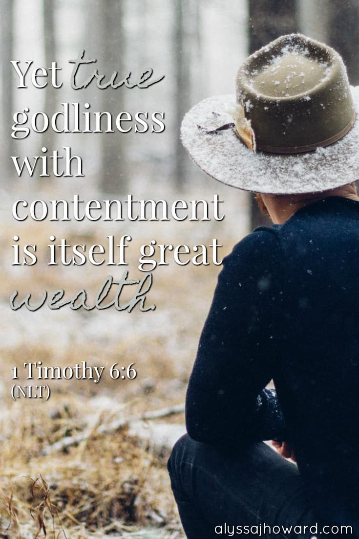 Yet true godliness with contentment is itself great wealth. - 1 Timothy 6:6