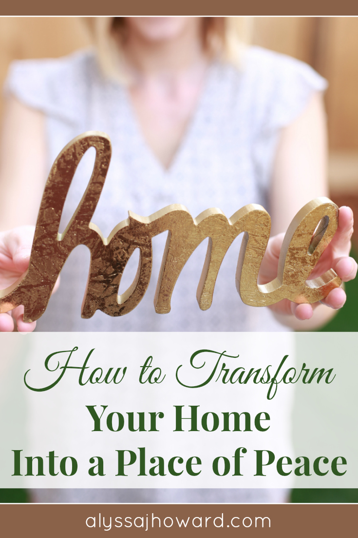 Is your home peaceful or chaotic? God longs for us to experience His peace in every aspect of our lives, including our homes. Here are 4 practical ways to transform your home into a place of peace. #Peace #ChristianLiving #write31days