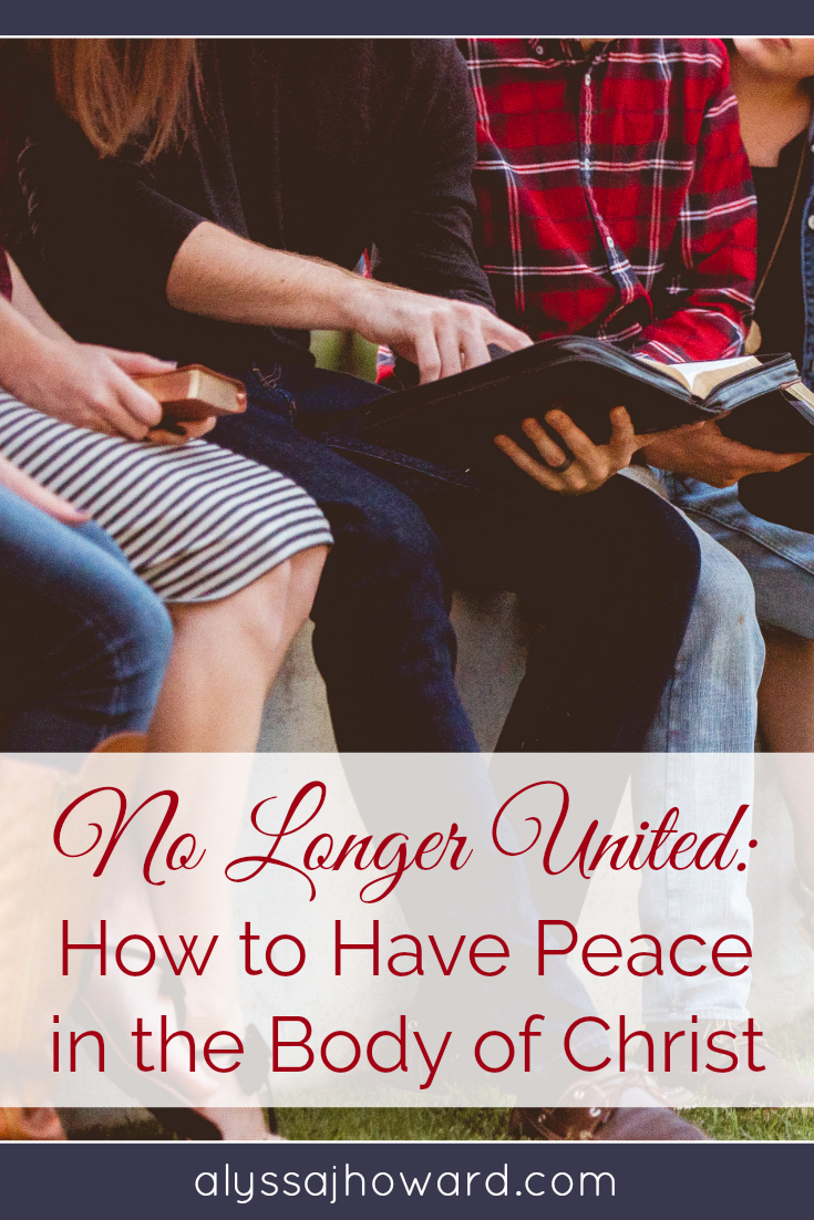 The church today argues over nearly everything. Is it possible to have peace in the Body of Christ? How do we achieve it when we all have our varying theologies and ideals? How do we unite and get along?