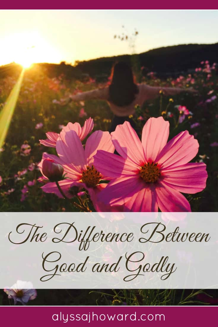 The Difference Between Good and Godly   alyssajhoward.com