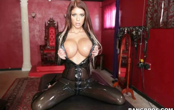 BROOK ULTRA IN LATEX CATSUIT FUCK