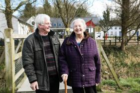 Margaret, who lives with dementia, and Side by Side volunteer Alistair