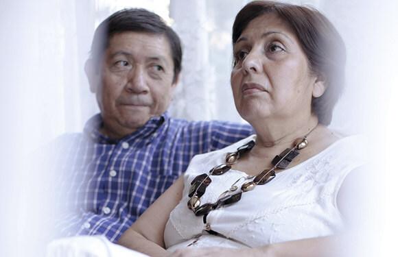 Carmen Gloria junto a su marido, Miguel.