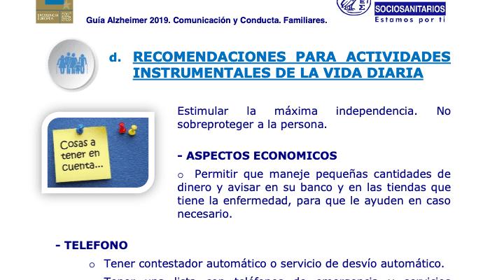 Última Guía Alzheimer 2019 Consejos para Familiares: Comunicación y Conducta