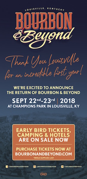 Bourbon & Beyond: Save The Date (Sept. 22-23, 2018)