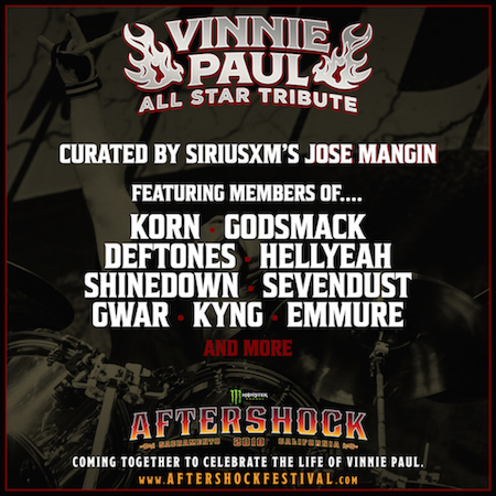 Vinnie Paul Tributes to take place at Monster Energy Aftershock festival and Louder Than Life festival.