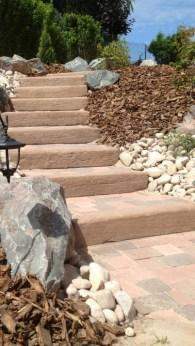 Escalier rustique en grès rose, Epinal