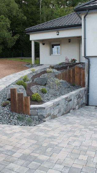 Muret en blocs bi-muro gris ardoise, Epinal