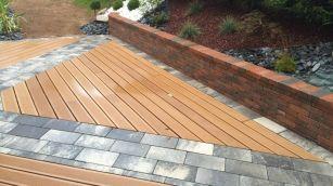 Terrasse mixte bois et dalles, Epinal