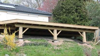 Terrasse en bois sur ossature bois, Epinal