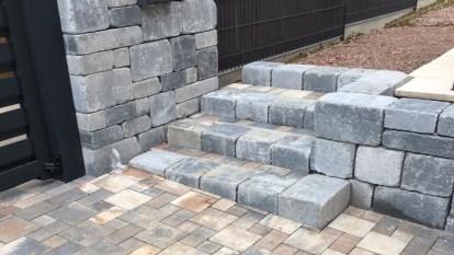 Escalier et muret en pierres sèches, Epinal