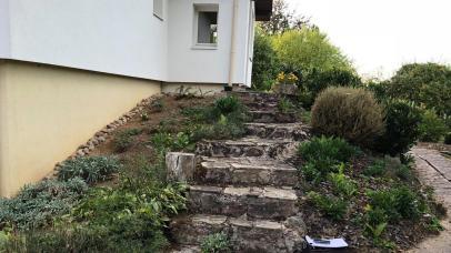 Avant aménagement d'escalier