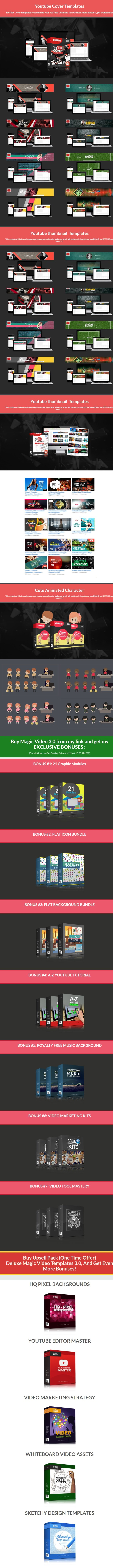Magic Video Templates Pro 3.0 Bonuses