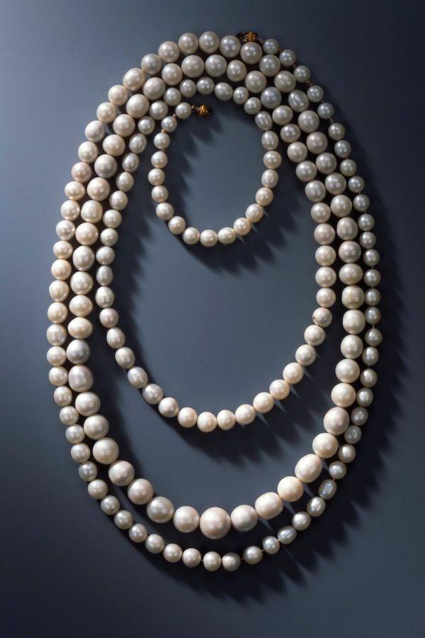 一個有177顆珍珠的項鍊