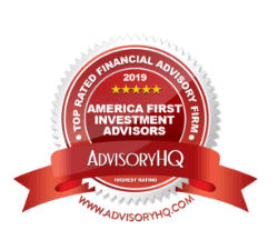 Badge from AdvisoryHQ naming America First Investment Advisors a Top Rated Financial Advisor in Omaha