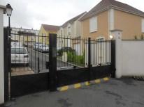 portail battant et portillon résidence