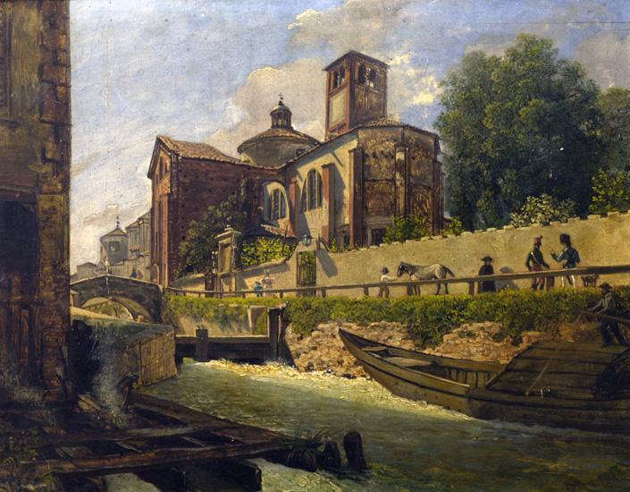 Anonimo_-_Abside_e_lato_della_chiesa_di_San_Marco_a_Milano