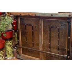 meuble bar en pin et fer forge