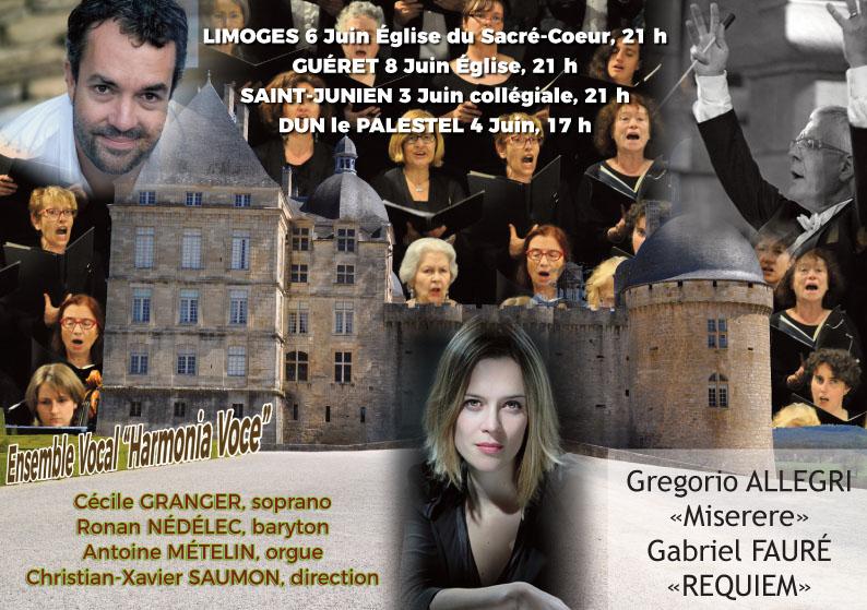 Quatre concerts en Limousin