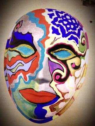 Paper Pulp Mask by Sara Roizen