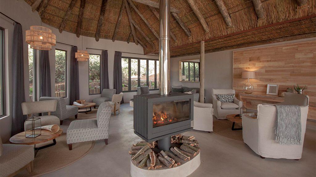 Bukela Game Lodge Indoor Fire Place