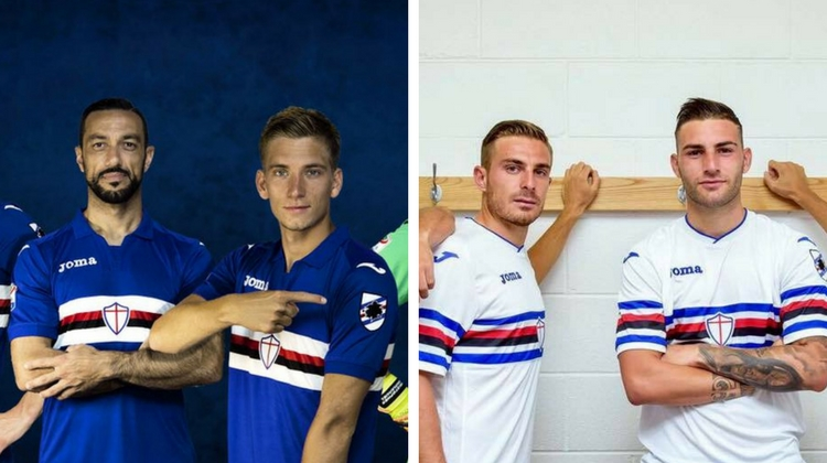 sampdoria home away 2017 2018