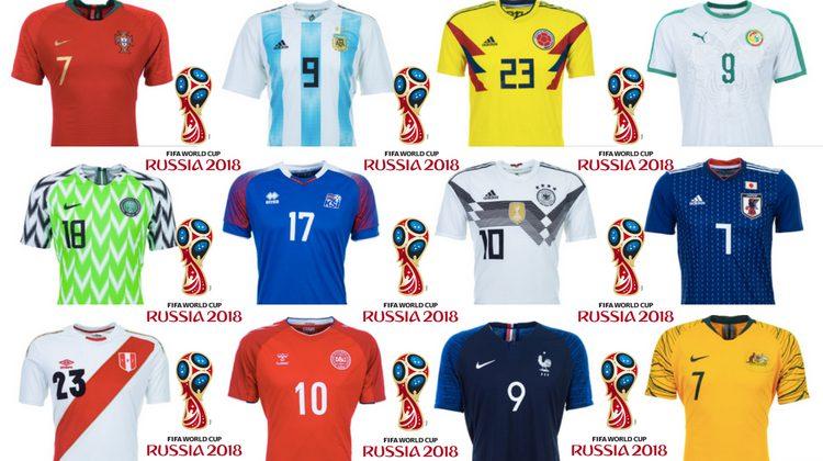 eb5198162 Edizione numero 21 del mondiale di calcio Fifa, 88 anni dopo il primo  mondiale in Uruguay nel 1930. 32 squadre finaliste in Russia con due, o più  maglie, ...