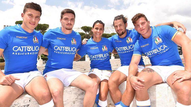 Italia rugby sponsor maglia Cattolica