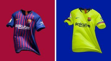 Barcelona home away kit 2018-2019