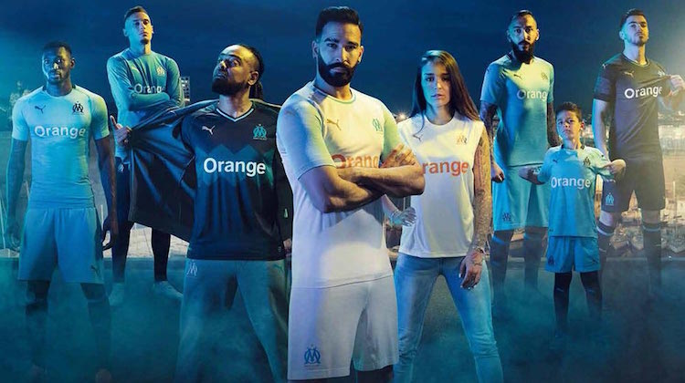 Marsiglia home away third kit 2018 2019