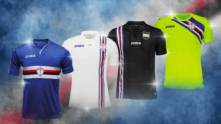 Sampdoria home away third kit 2018 2019