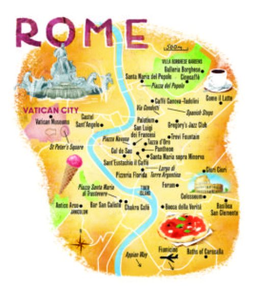 rome day tour map