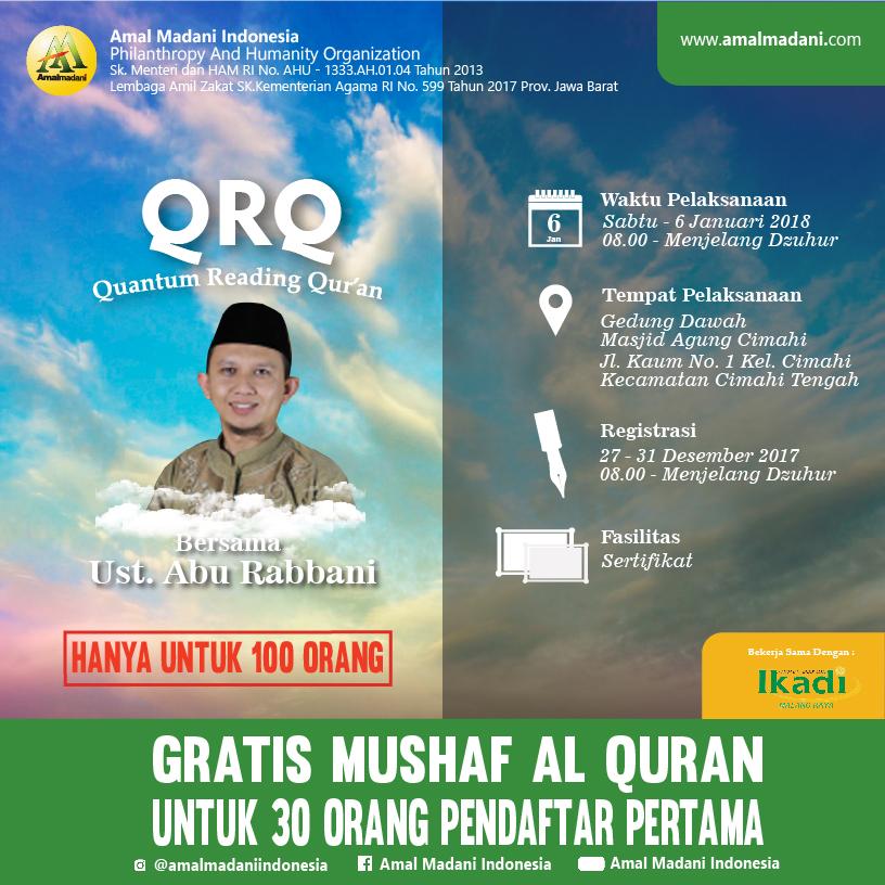 Ayo Daftar Metode Belajar QRQ (Quantum Read Qur'an)