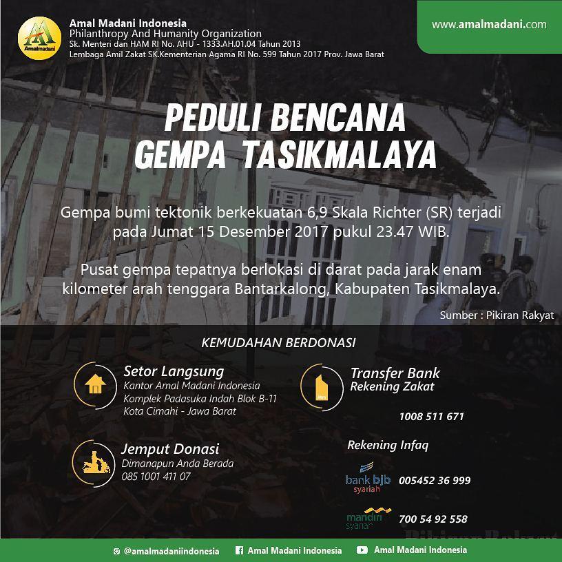Peduli Bencana Gempa Tasimalaya