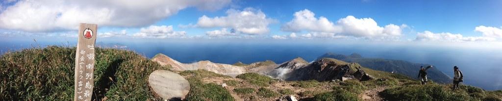 中之島、御岳山頂