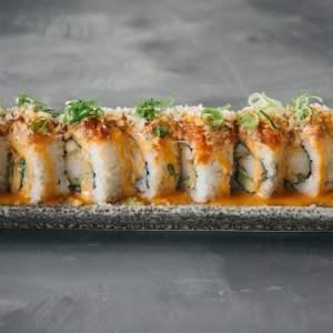 Amami Sushi Spicy Salmon Uramaki