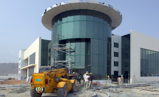 Under Construction Cotton Yarn Manufacturing Plant for United Textiles at Fujairah Free Zone