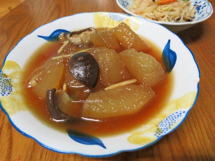 滷冬瓜,滷香菇,素食