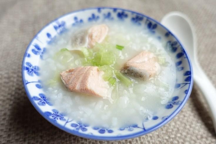 海鮮粥,稀飯,魚粥,鮭魚 @Amanda生活美食料理
