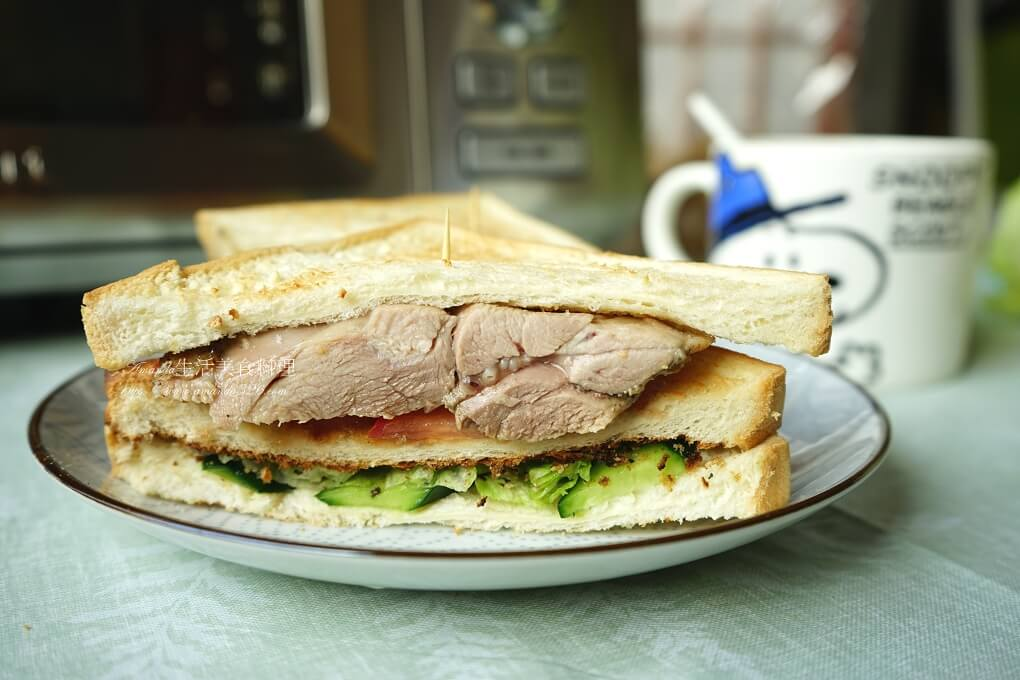三明治,早午餐,早餐,烤肉,烤雞,烤雞腿,醃肉